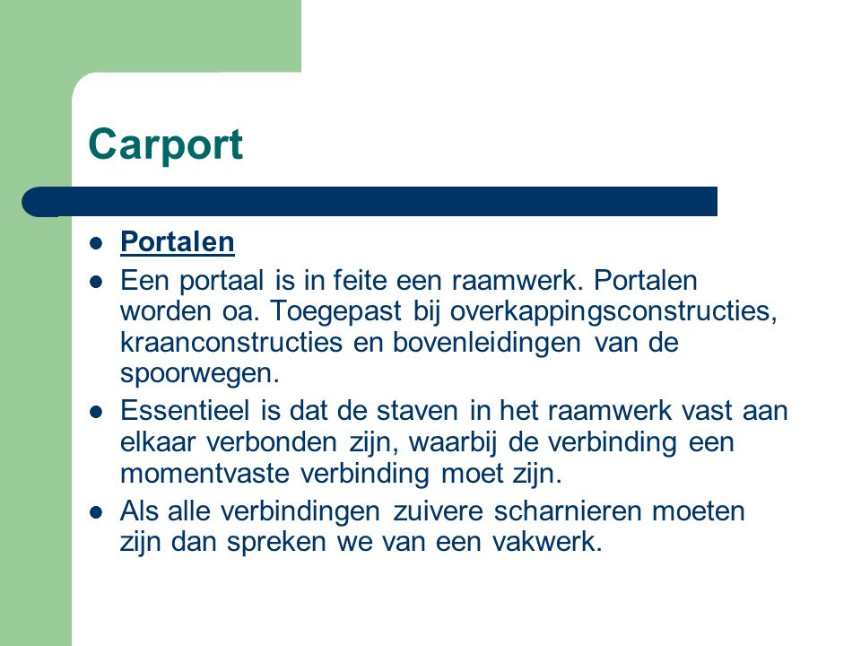 Carport Portalen.
