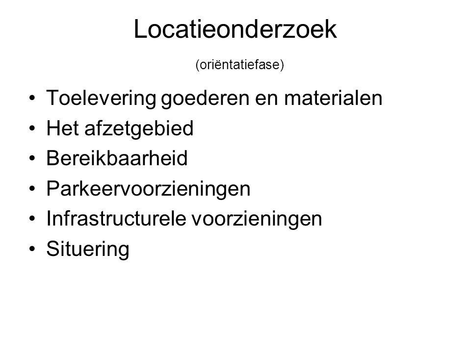 Locatieonderzoek (oriëntatiefase)