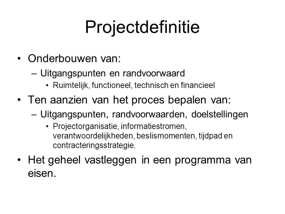 Projectdefinitie Onderbouwen van: