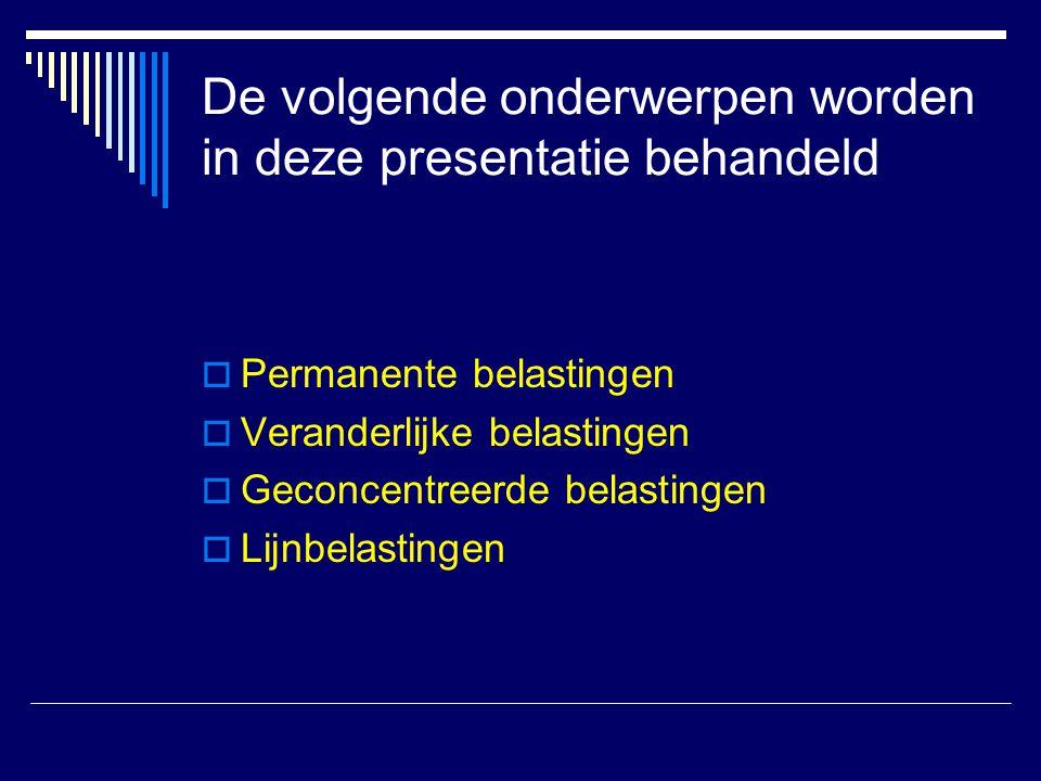 De volgende onderwerpen worden in deze presentatie behandeld
