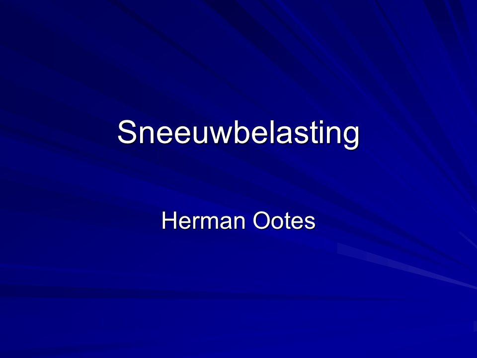 Sneeuwbelasting Herman Ootes