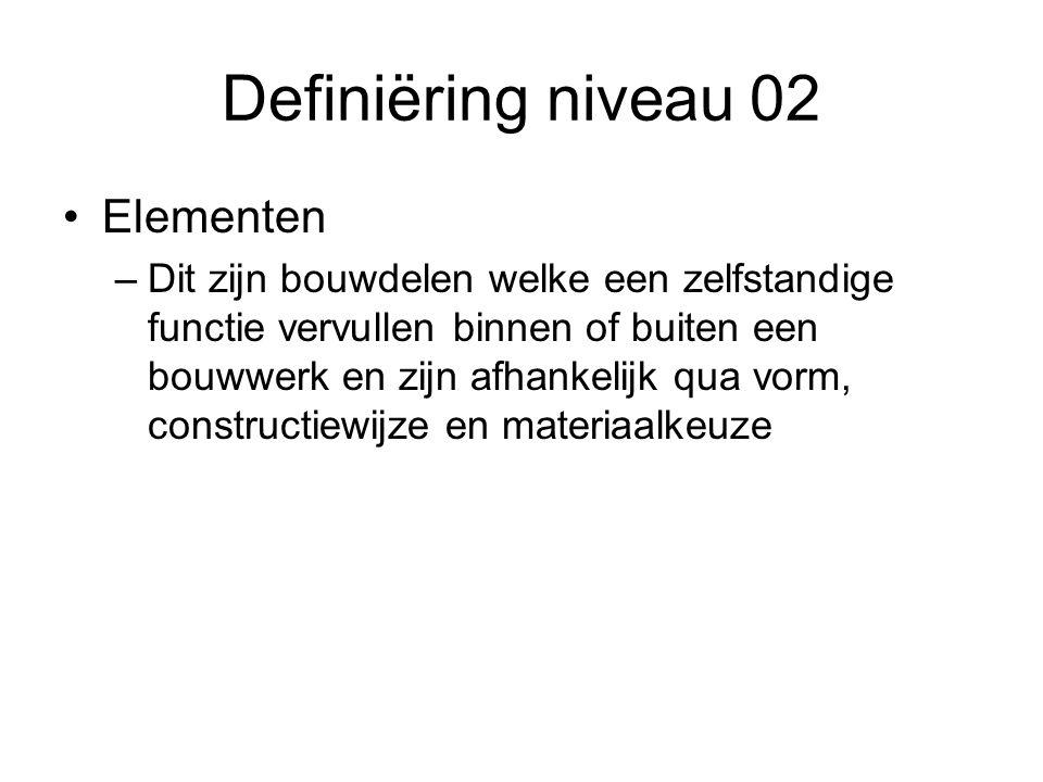 Definiëring niveau 02 Elementen