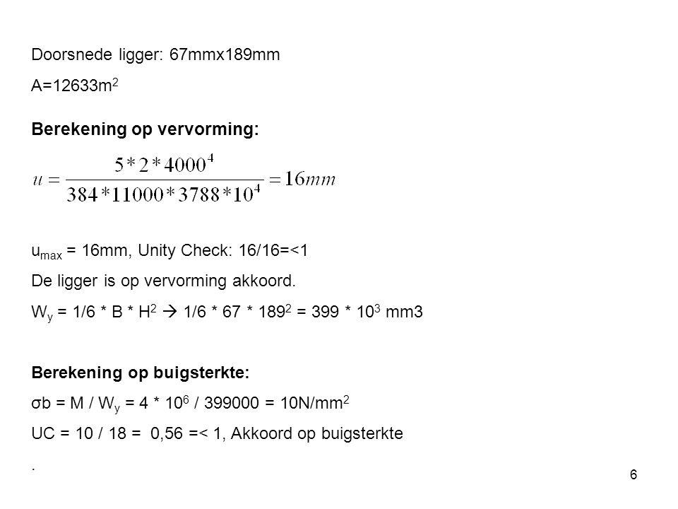 Berekening op vervorming: