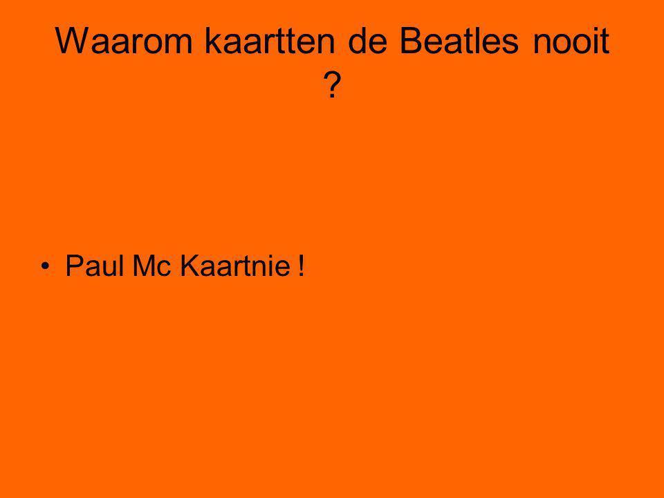 Waarom kaartten de Beatles nooit
