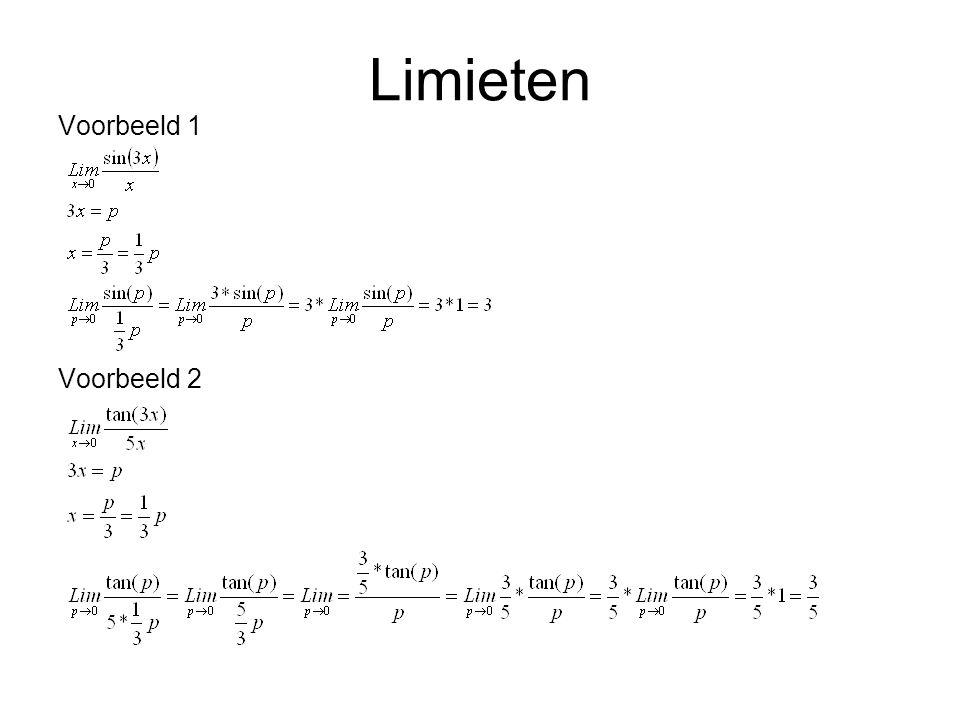 Limieten Voorbeeld 1 Voorbeeld 2