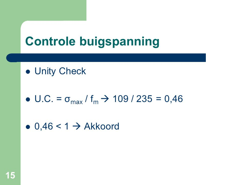 Controle buigspanning