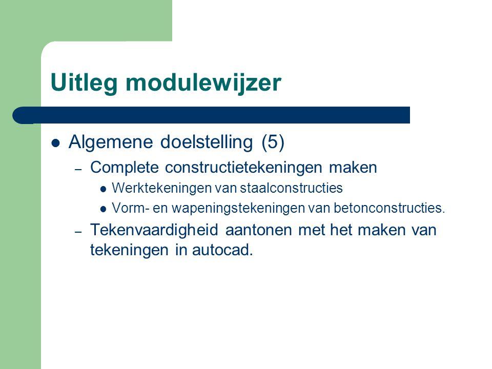 Uitleg modulewijzer Algemene doelstelling (5)