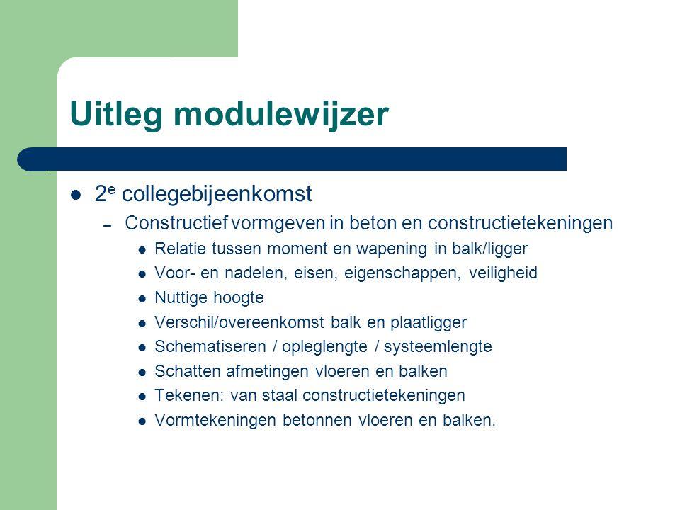 Uitleg modulewijzer 2e collegebijeenkomst