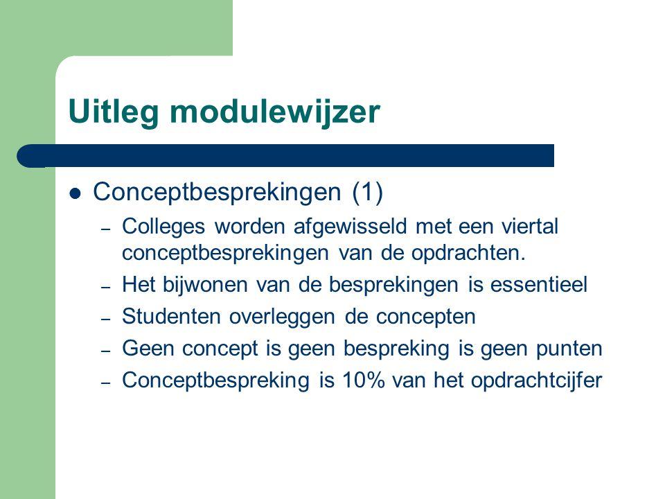 Uitleg modulewijzer Conceptbesprekingen (1)