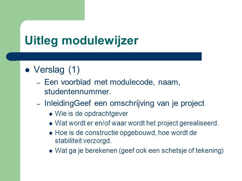 Uitleg modulewijzer Verslag (1)