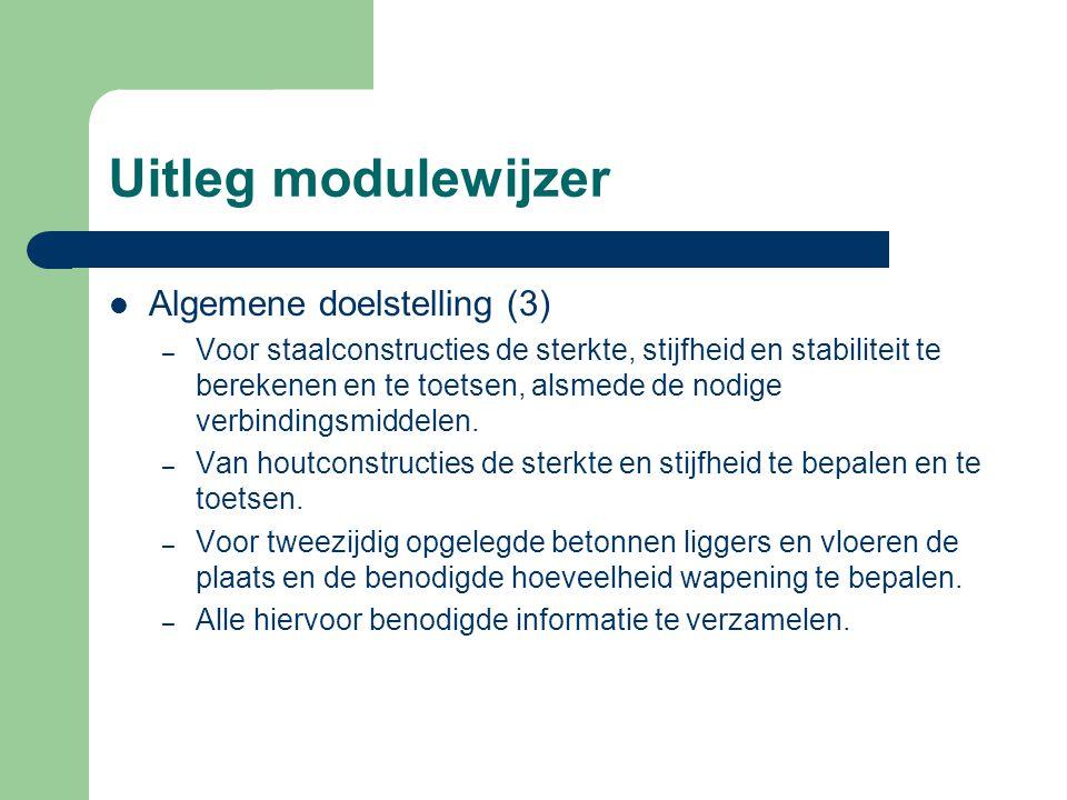 Uitleg modulewijzer Algemene doelstelling (3)