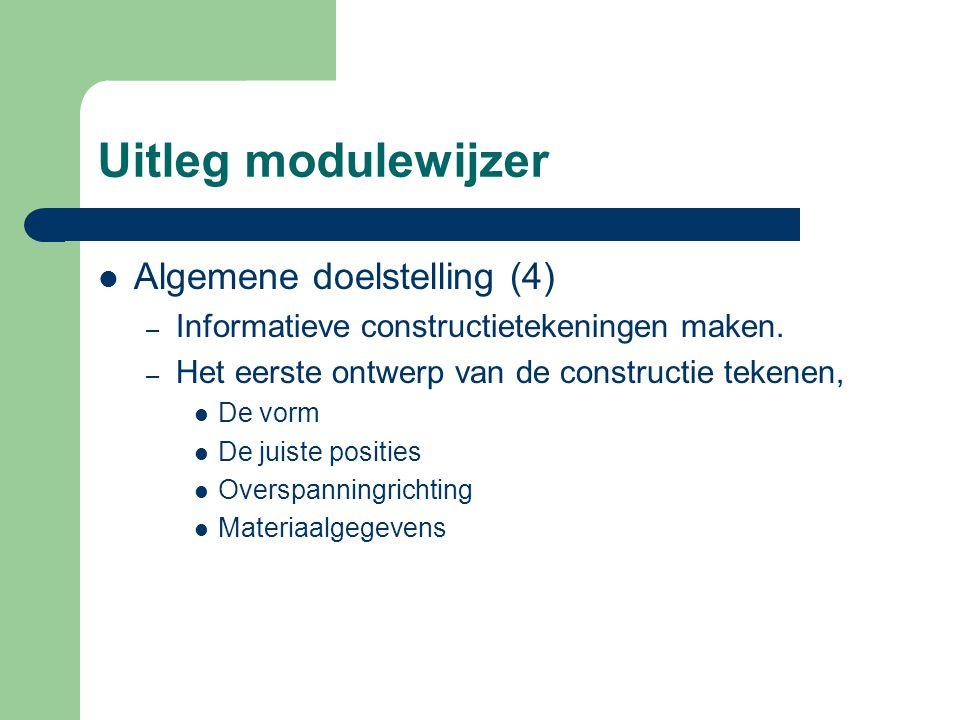 Uitleg modulewijzer Algemene doelstelling (4)