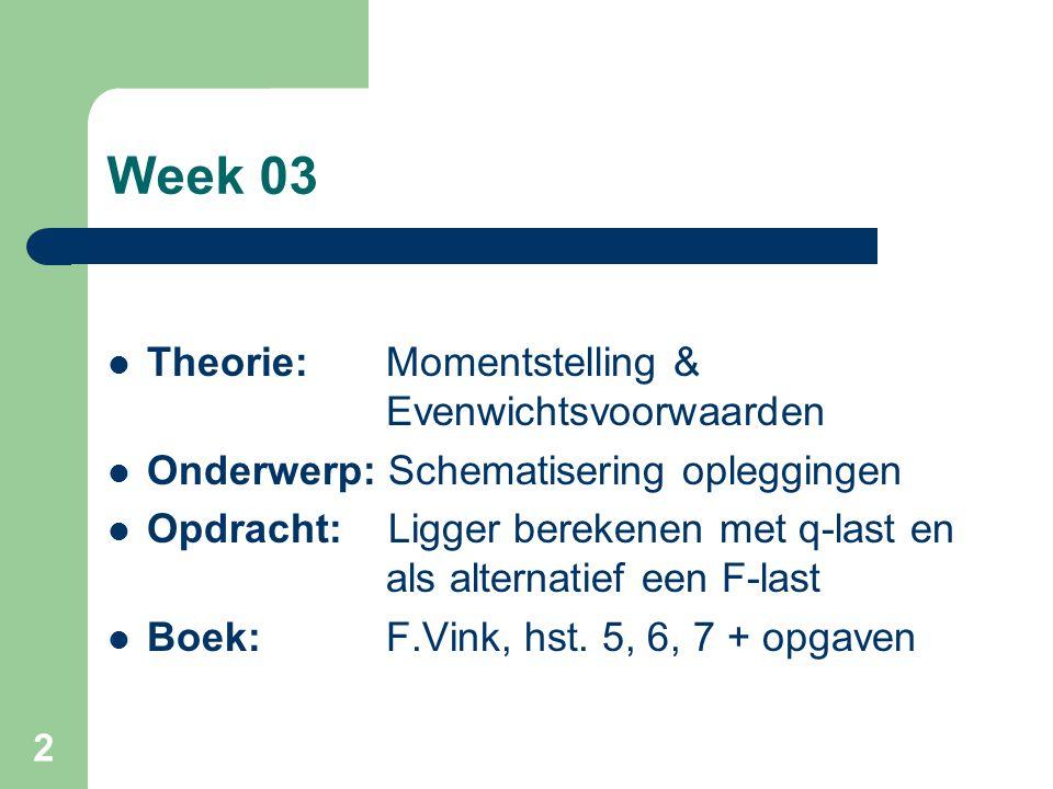 Week 03 Theorie: Momentstelling & Evenwichtsvoorwaarden