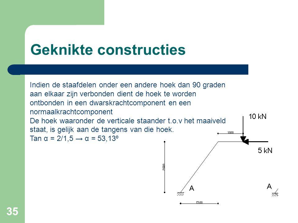 Geknikte constructies