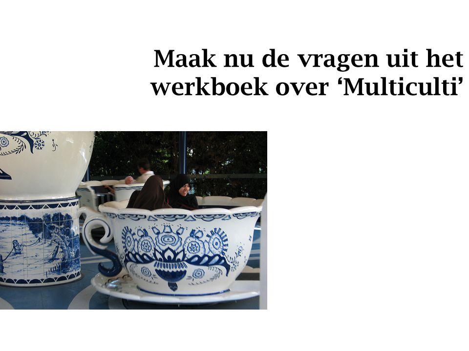 Maak nu de vragen uit het werkboek over 'Multiculti'