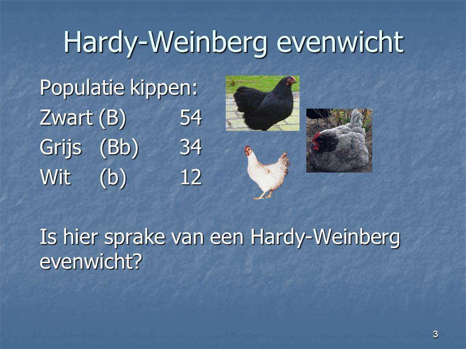 Hardy-Weinberg evenwicht
