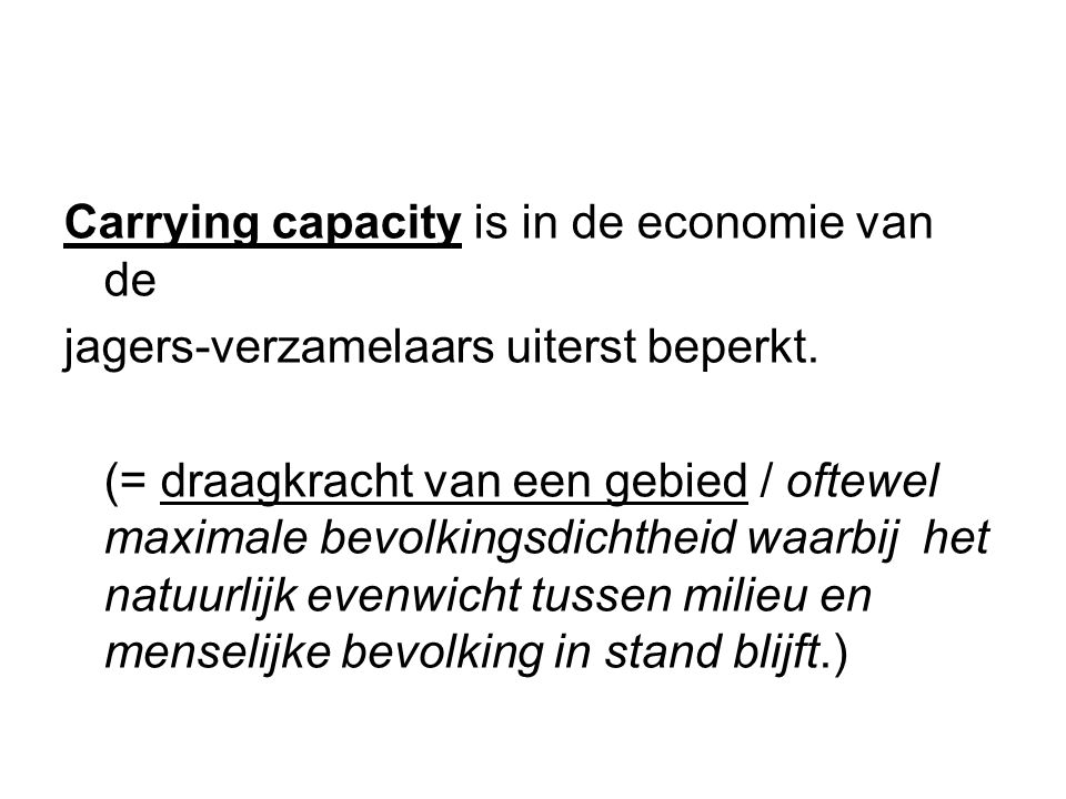 Carrying capacity is in de economie van de