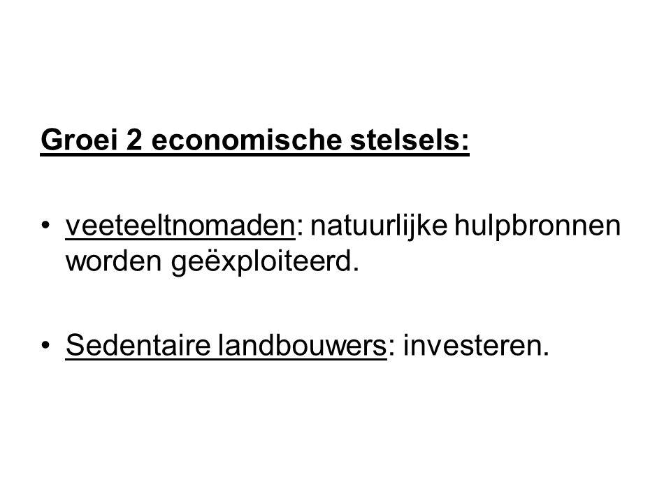 Groei 2 economische stelsels: