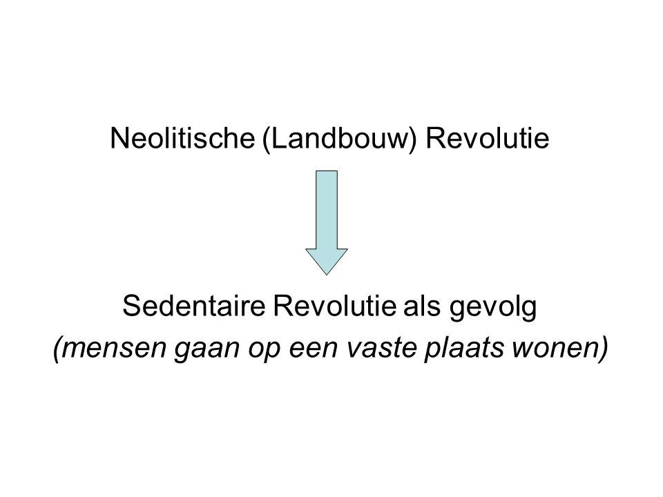 Neolitische (Landbouw) Revolutie