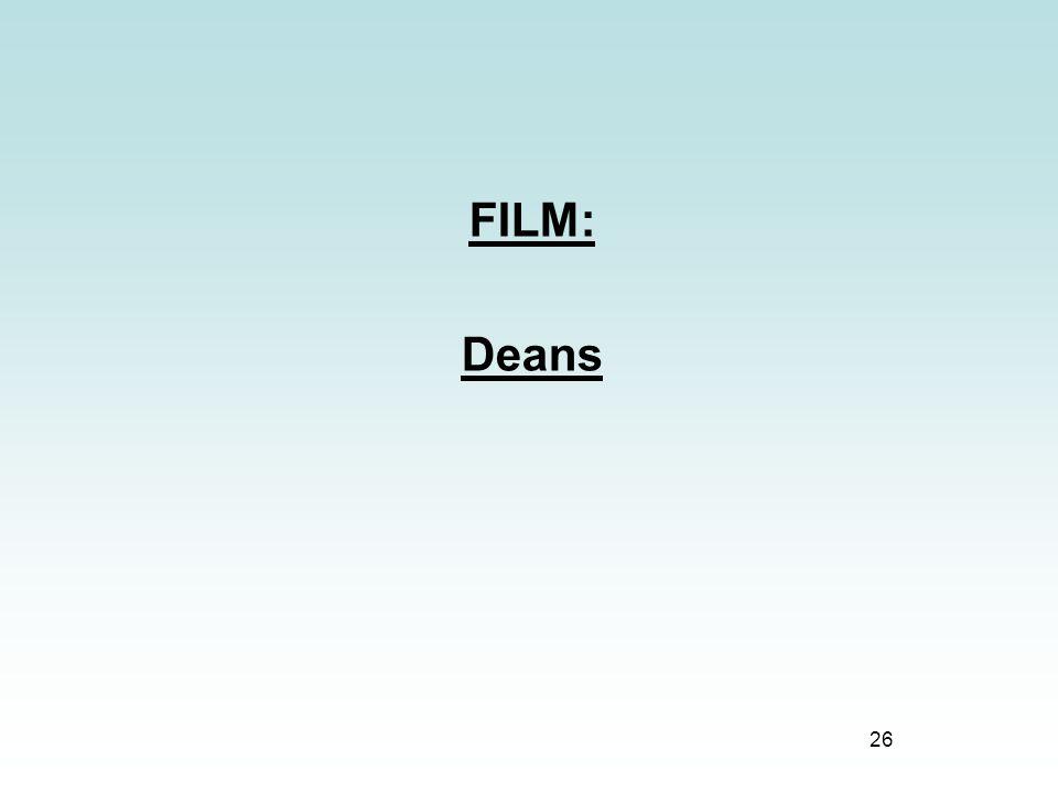 FILM: Deans