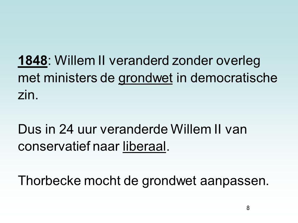 1848: Willem II veranderd zonder overleg