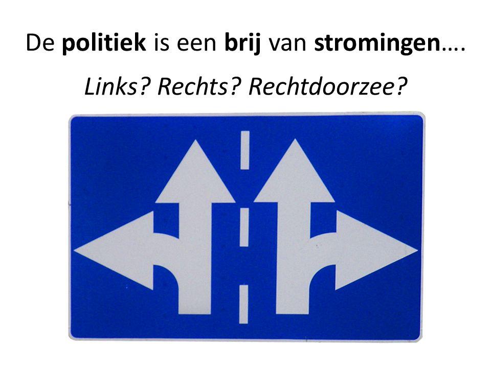 De politiek is een brij van stromingen….