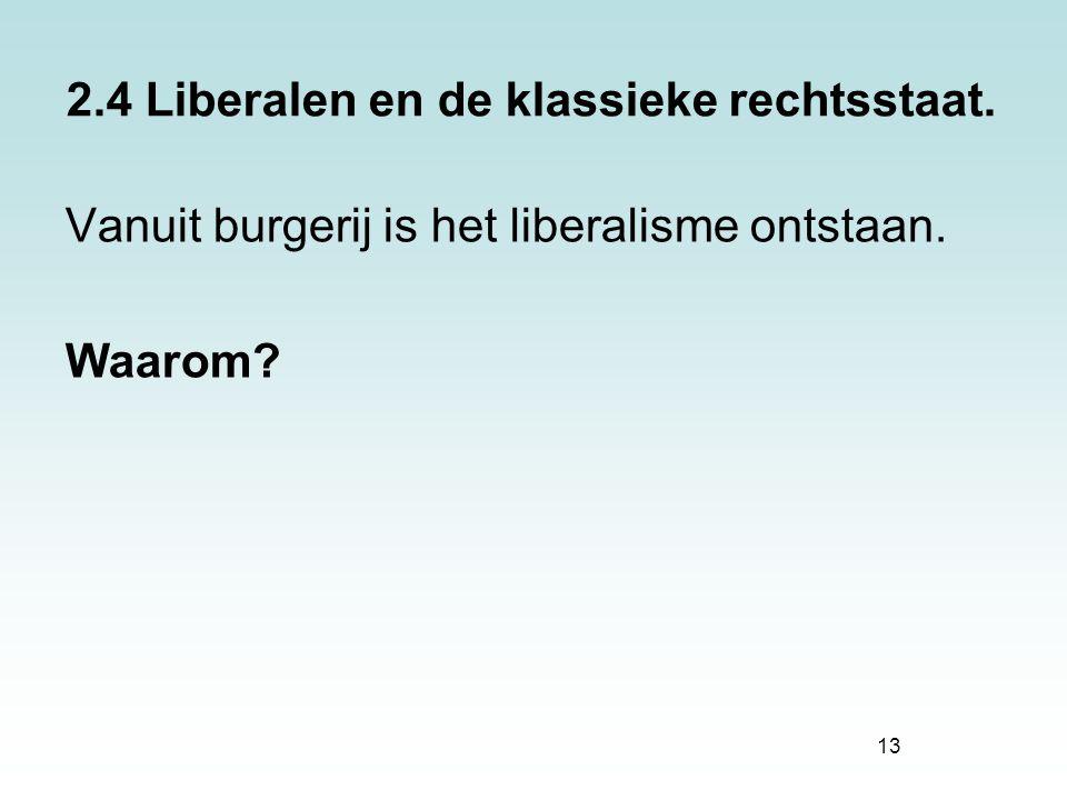 2.4 Liberalen en de klassieke rechtsstaat.