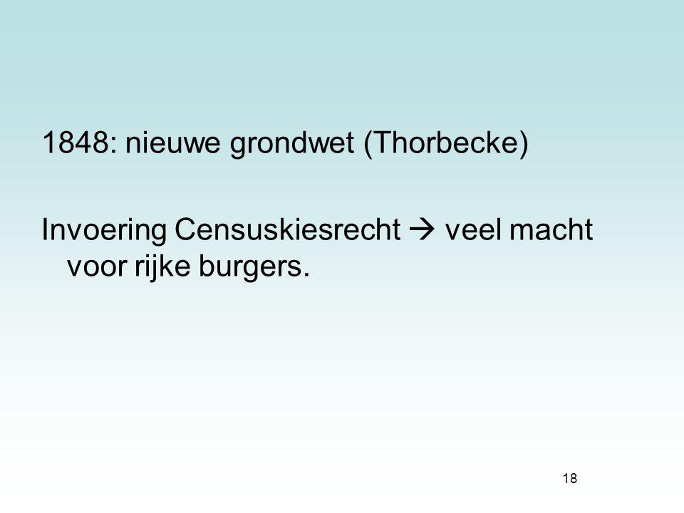 1848: nieuwe grondwet (Thorbecke)