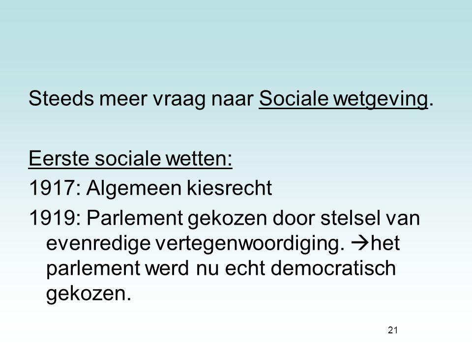 Steeds meer vraag naar Sociale wetgeving.