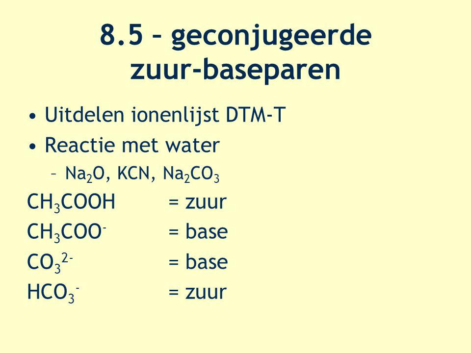 8.5 – geconjugeerde zuur-baseparen