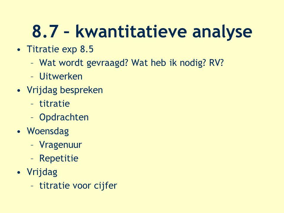 8.7 – kwantitatieve analyse