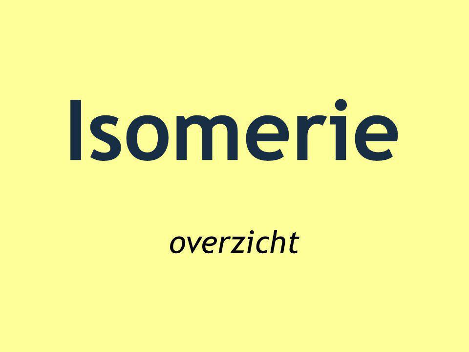 Isomerie overzicht