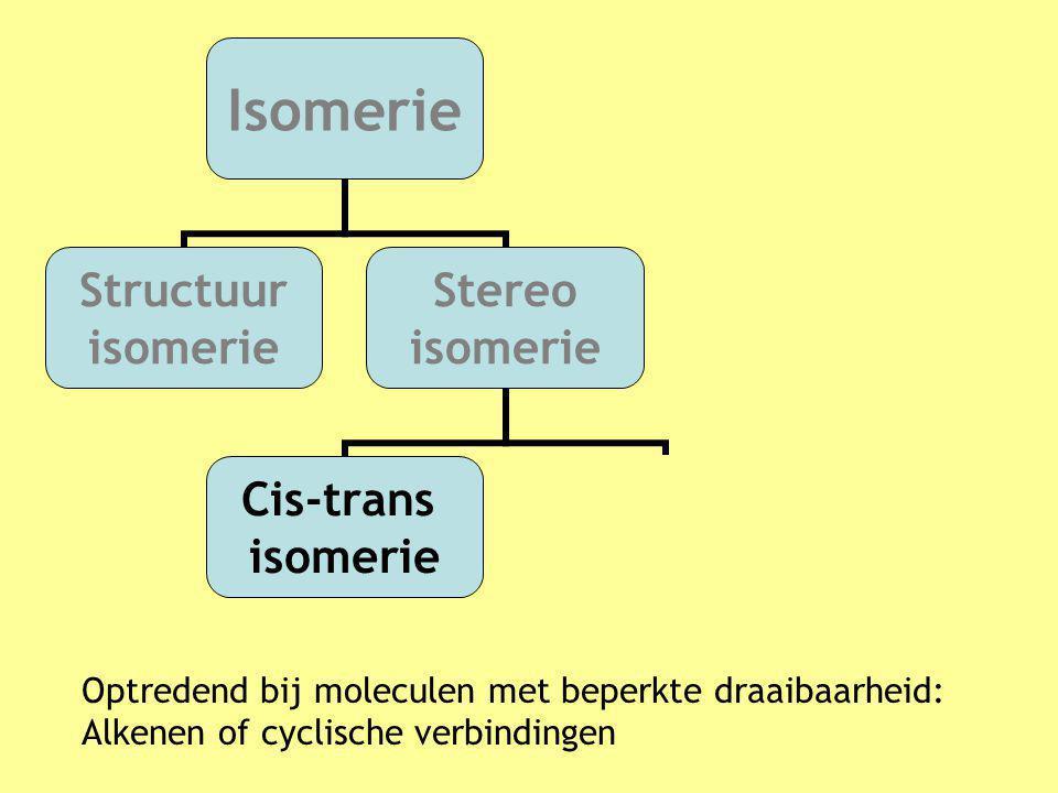 Optredend bij moleculen met beperkte draaibaarheid: Alkenen of cyclische verbindingen