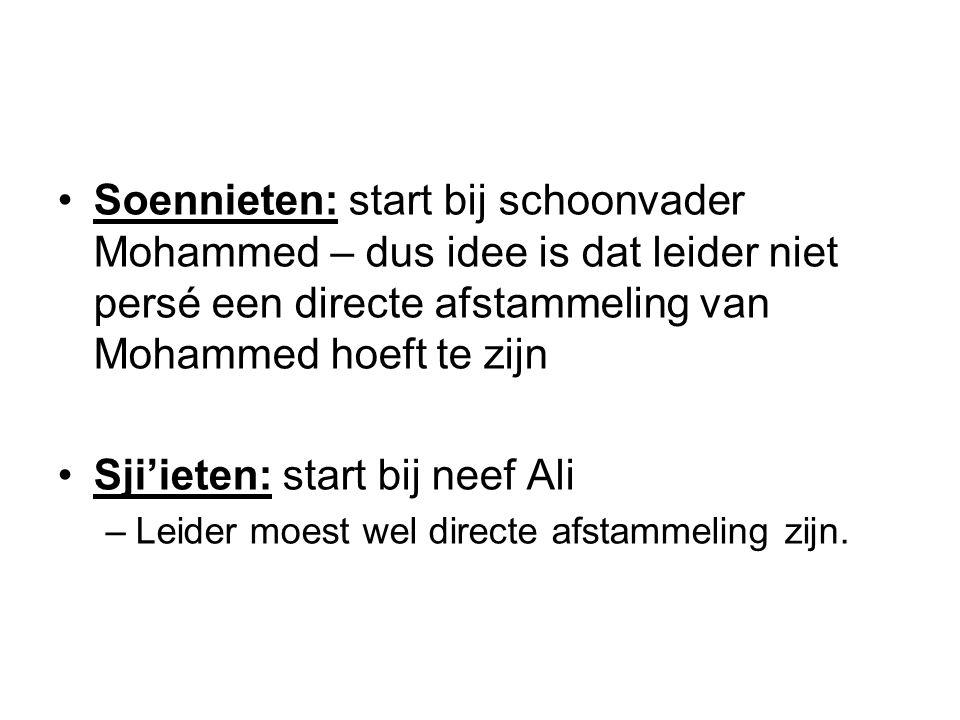Sji'ieten: start bij neef Ali
