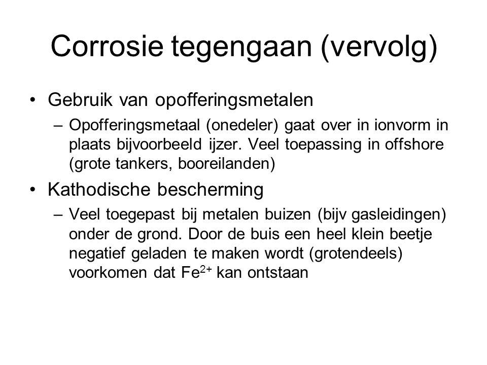 Corrosie tegengaan (vervolg)