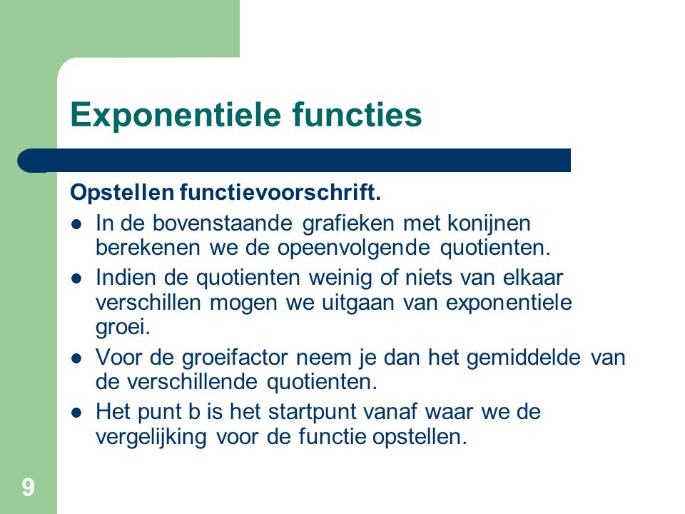 Exponentiele functies