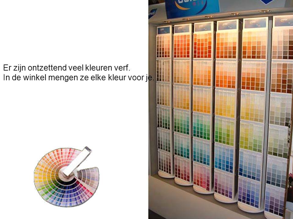 Er zijn ontzettend veel kleuren verf.