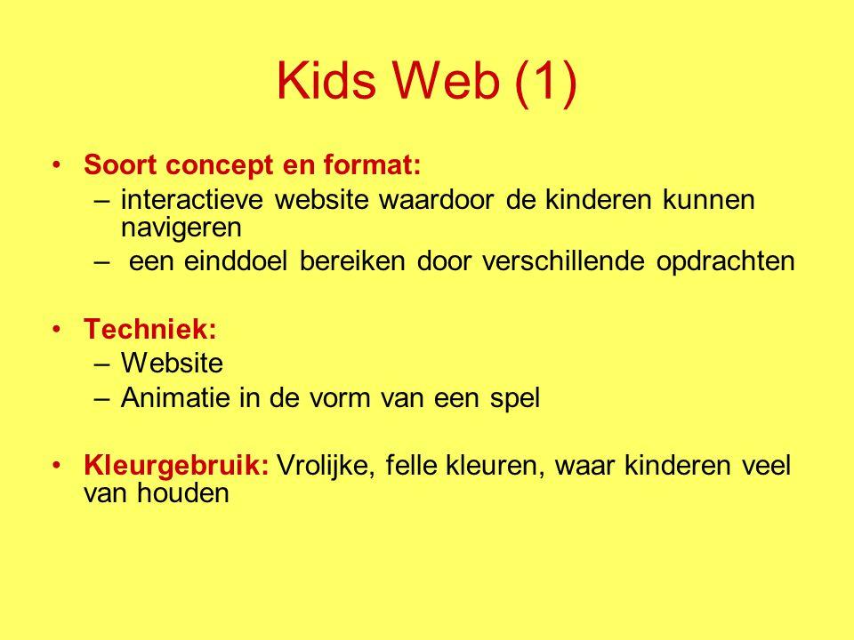 Kids Web (1) Soort concept en format: