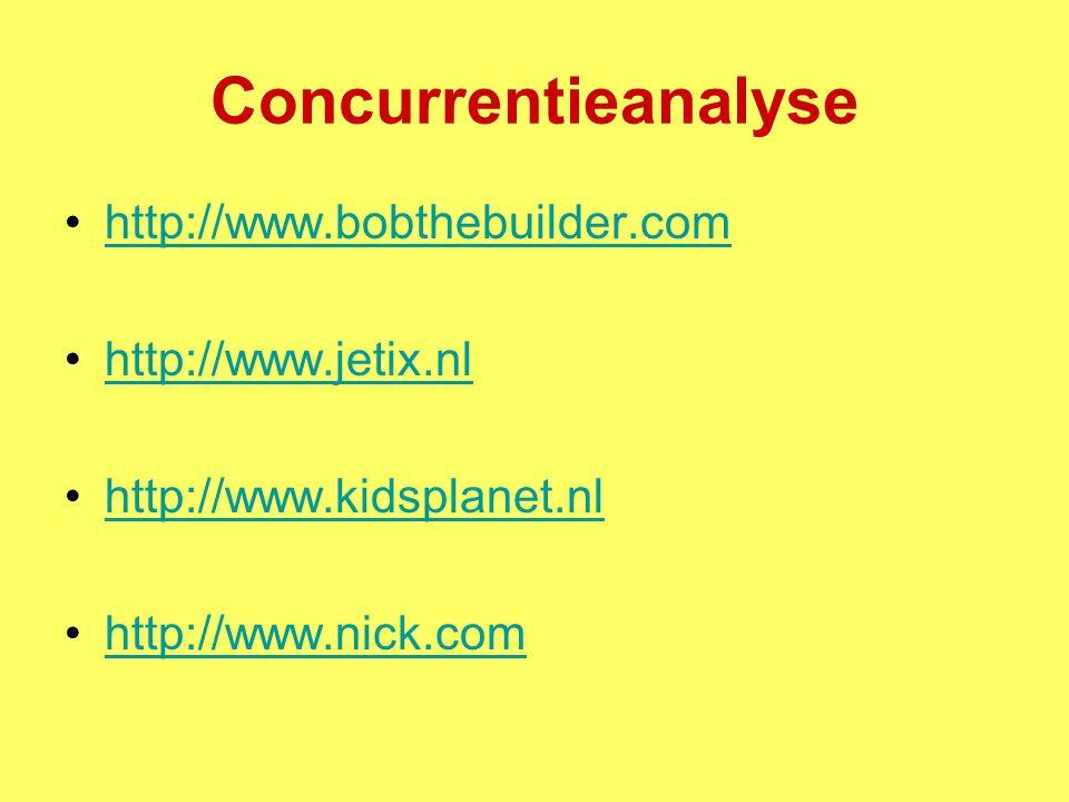 Concurrentieanalyse http://www.bobthebuilder.com http://www.jetix.nl