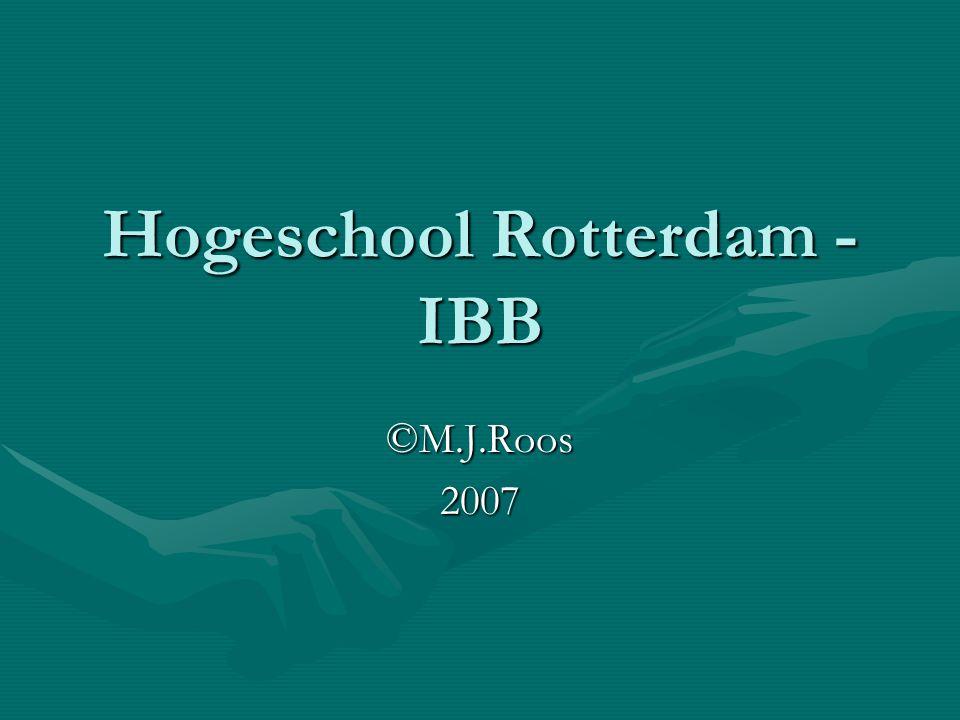 Hogeschool Rotterdam - IBB