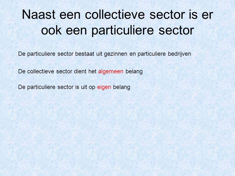 Naast een collectieve sector is er ook een particuliere sector