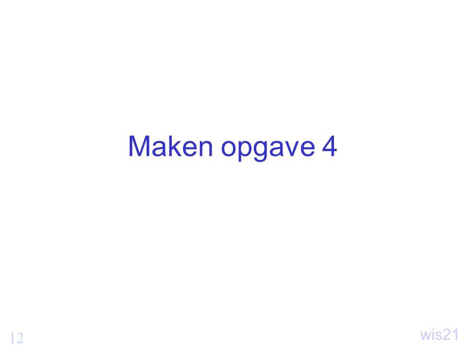 Maken opgave 4