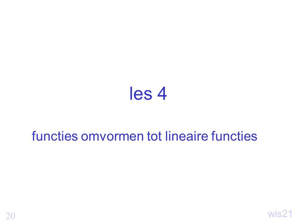 functies omvormen tot lineaire functies