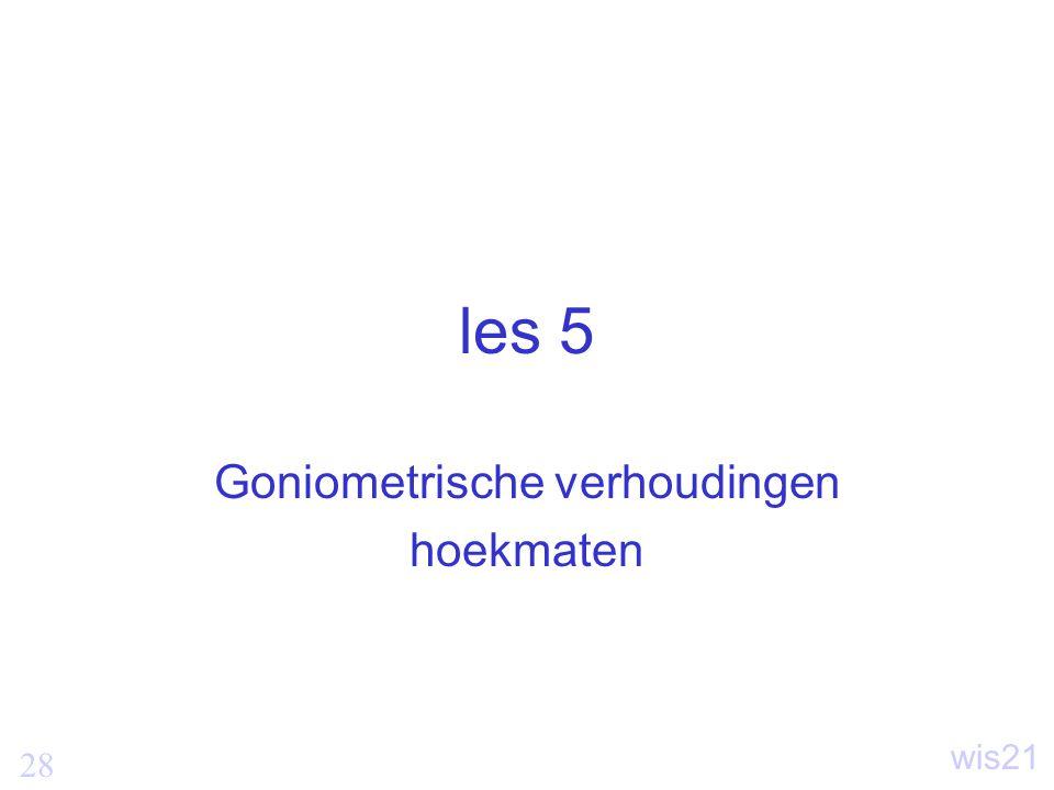 Goniometrische verhoudingen hoekmaten