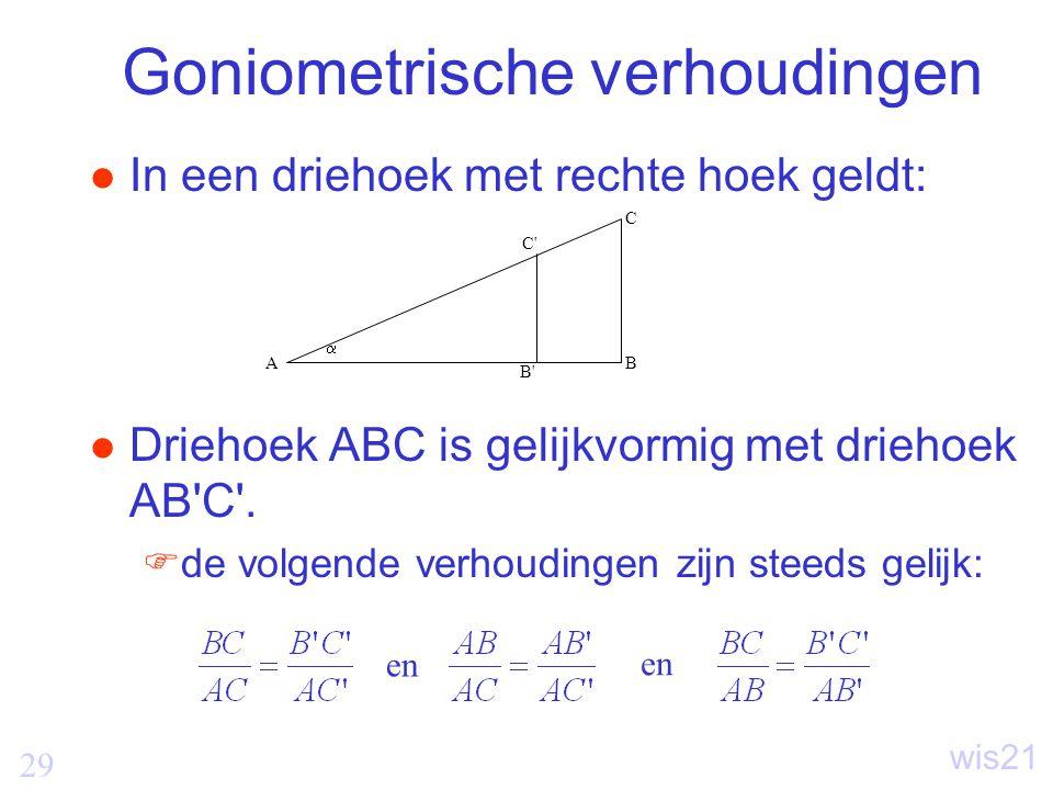 Goniometrische verhoudingen