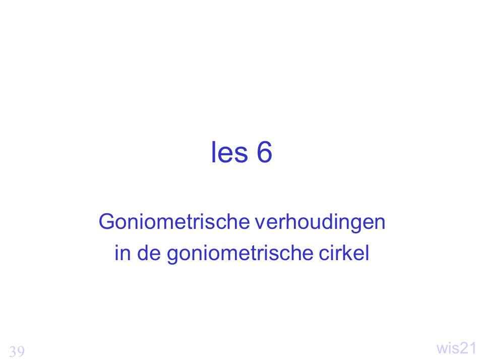 Goniometrische verhoudingen in de goniometrische cirkel
