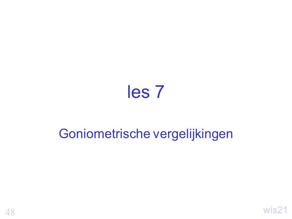 Goniometrische vergelijkingen