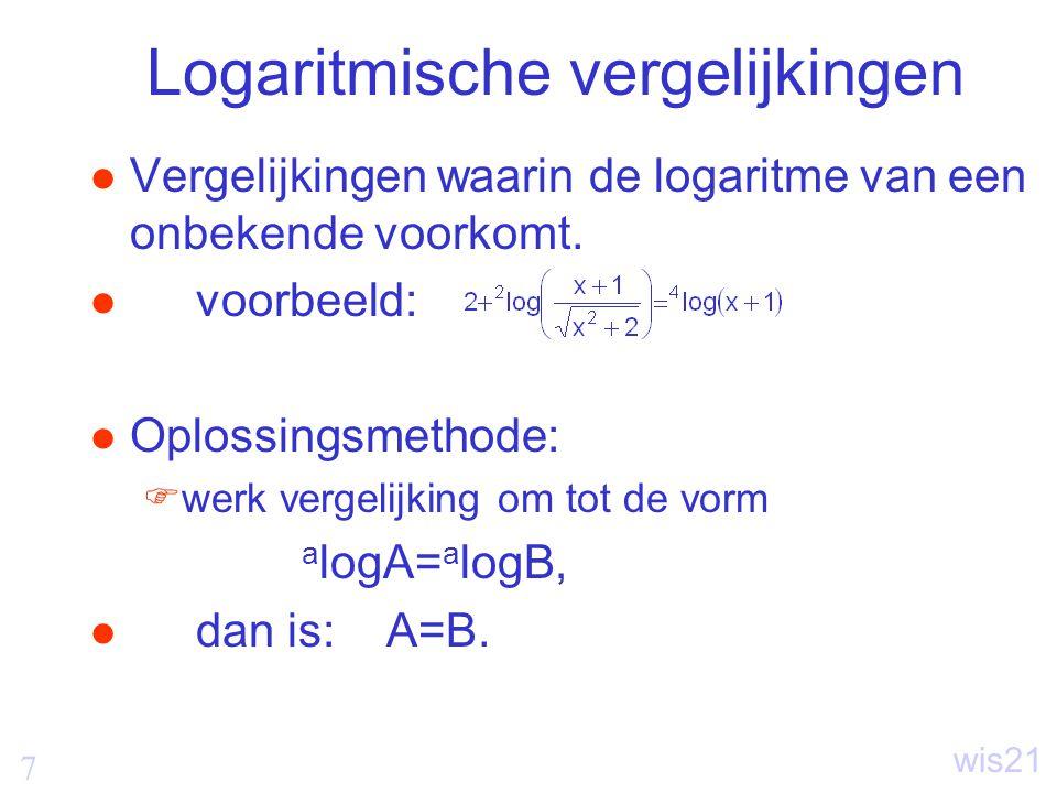 Logaritmische vergelijkingen