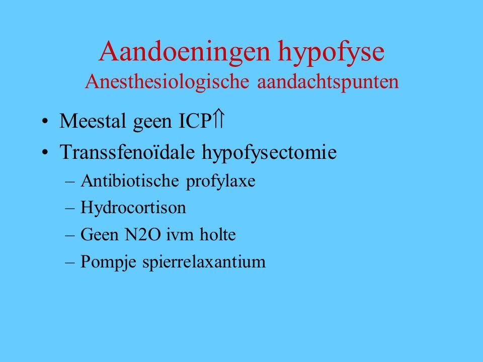 Aandoeningen hypofyse Anesthesiologische aandachtspunten