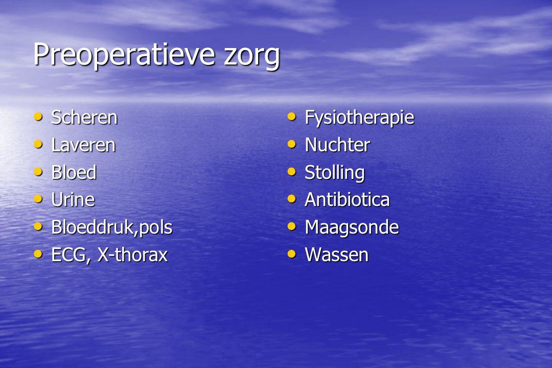 Preoperatieve zorg Scheren Laveren Bloed Urine Bloeddruk,pols